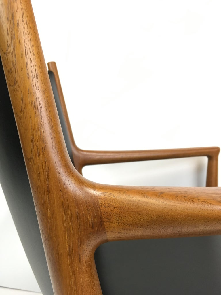 Scandinavian Modern Rare Hans Wegner Teak Lounge Chair for Johannes Hansen, circa 1960s For Sale
