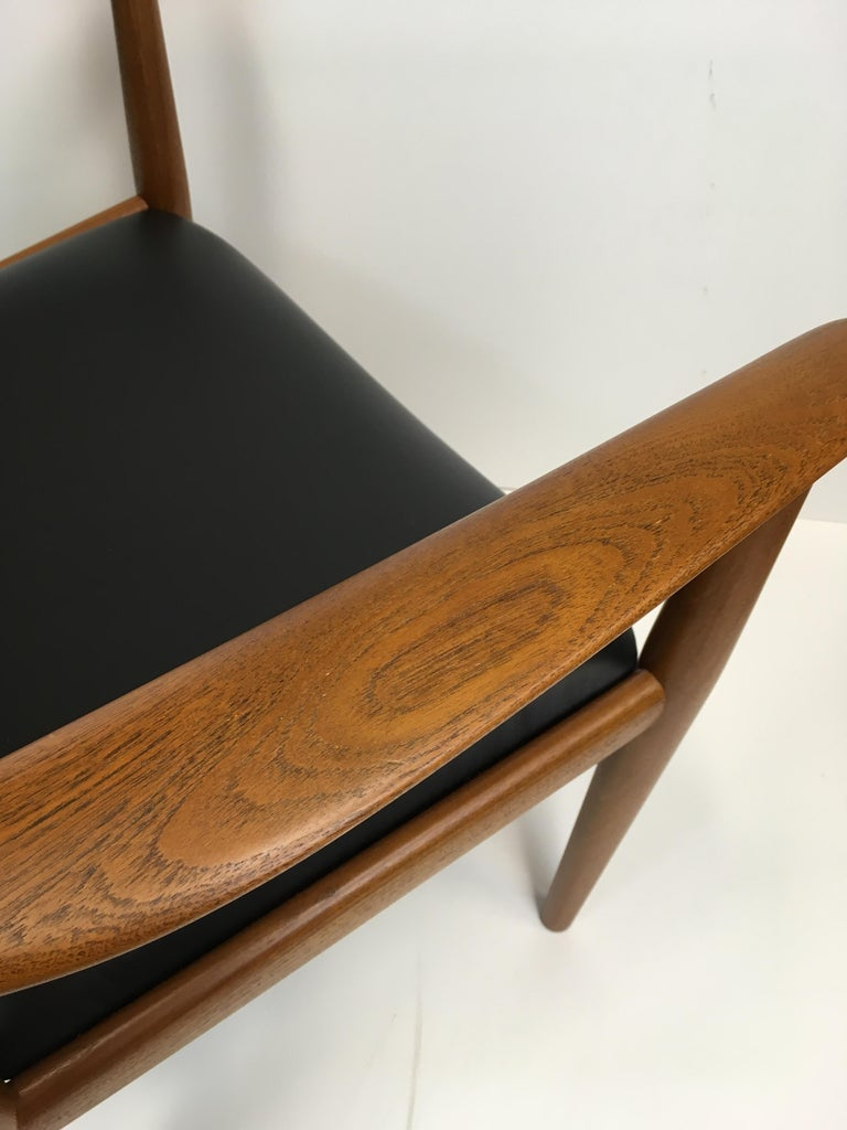Danish Rare Hans Wegner Teak Lounge Chair for Johannes Hansen, circa 1960s For Sale