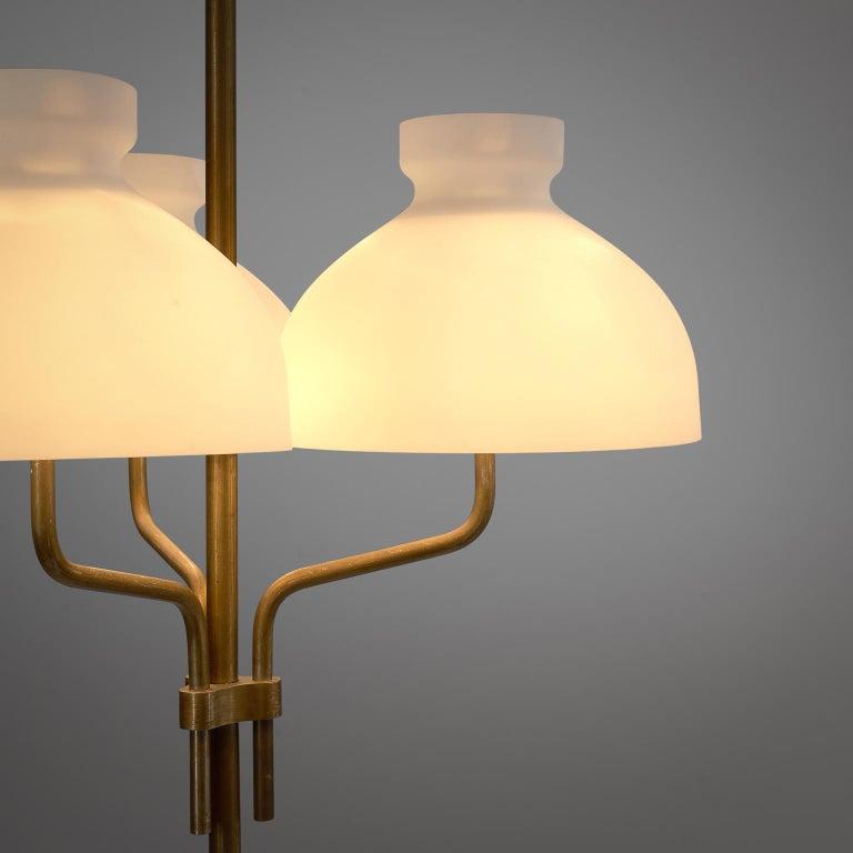 Rare Hansen & Jørgensen Chair in Original Leather and Gardella 'Arenzano' Lamp For Sale 3