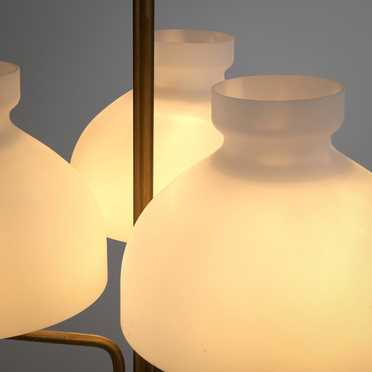 Rare Hansen & Jørgensen Chair in Original Leather and Gardella 'Arenzano' Lamp For Sale 5