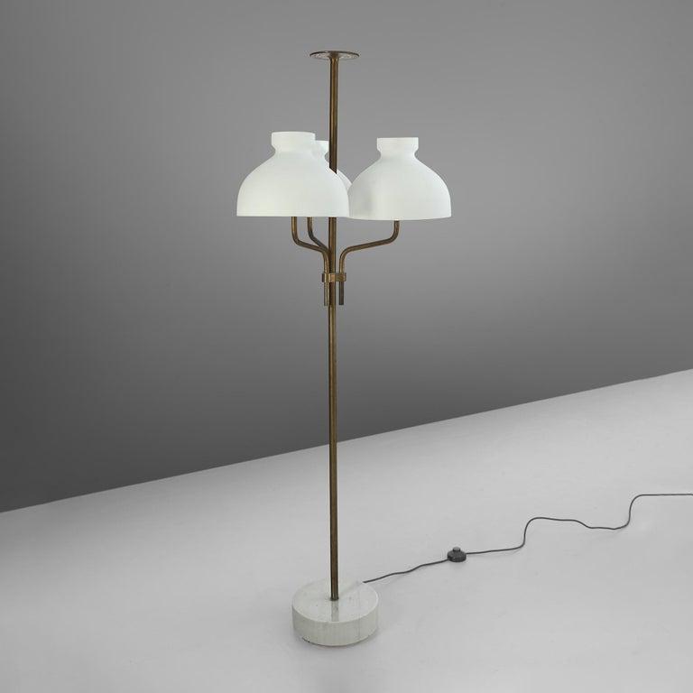 Rare Hansen & Jørgensen Chair in Original Leather and Gardella 'Arenzano' Lamp For Sale 7