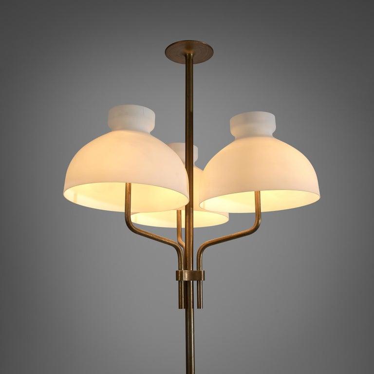 20th Century Rare Hansen & Jørgensen Chair in Original Leather and Gardella 'Arenzano' Lamp For Sale