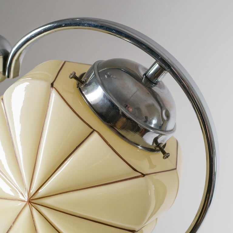 Rare Heart Shaped Art Deco Chandelier, 1930s For Sale 2