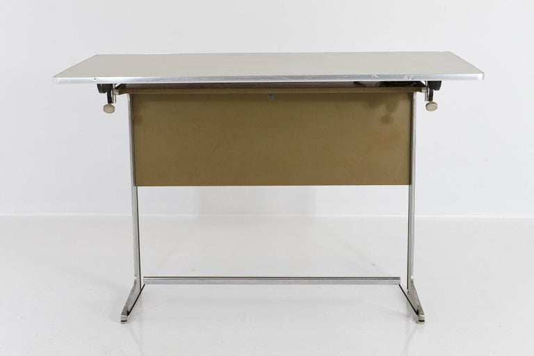 Mid-Century Modern Rare Herman Miller Action Office Standing Desk and Drawing Table, 1960s For Sale