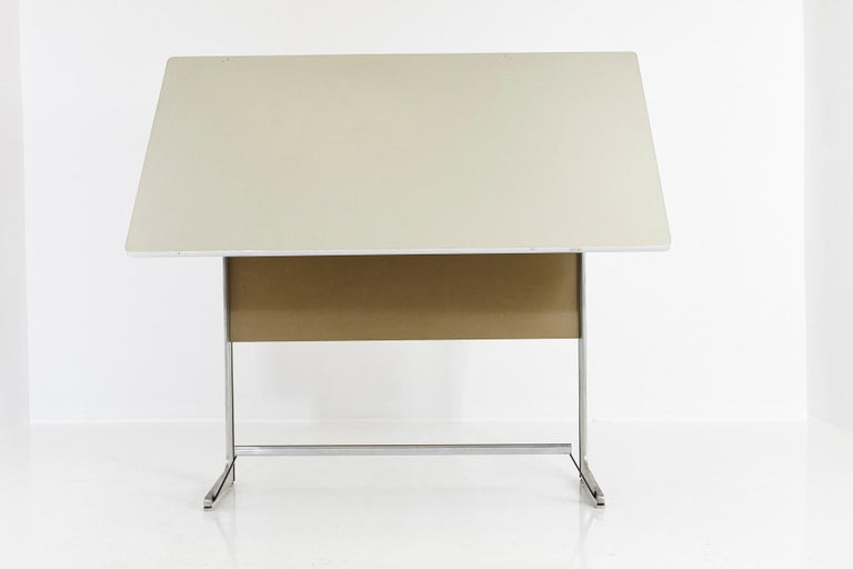 American Rare Herman Miller Action Office Standing Desk and Drawing Table, 1960s For Sale