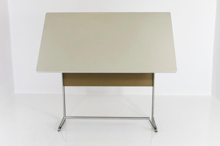 Mid-20th Century Rare Herman Miller Action Office Standing Desk and Drawing Table, 1960s For Sale