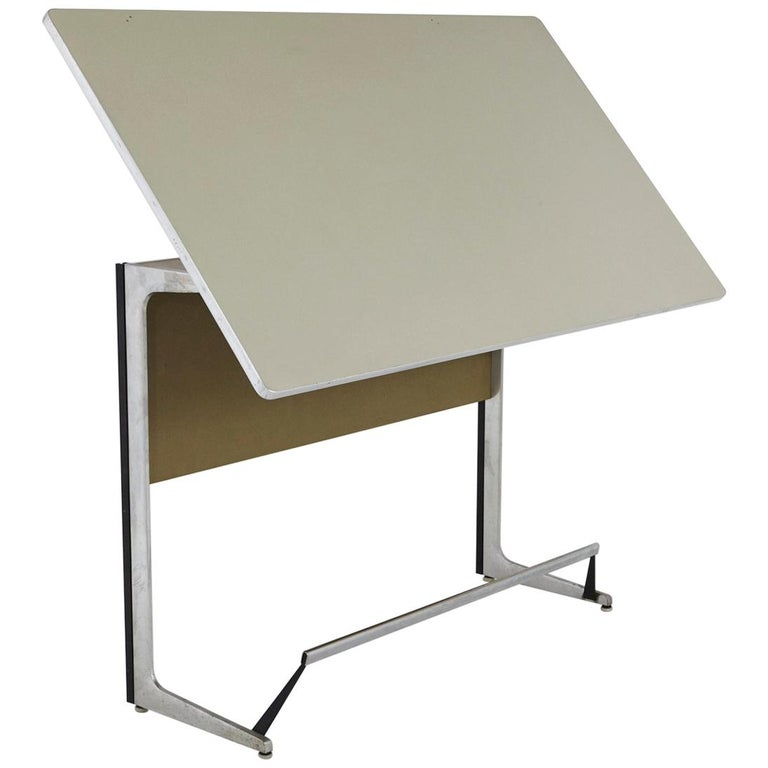 Rare Herman Miller Action Office Standing Desk and Drawing Table, 1960s For Sale