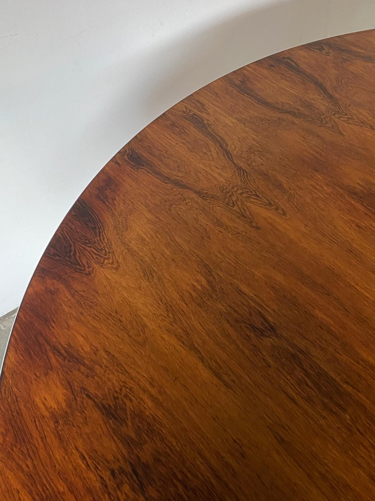 Rare Herman Miller Eames Round Dining Table in Rosewood For Sale 7