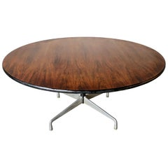 Rare Herman Miller Eames Round Dining Table in Rosewood