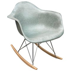 Rare Herman Miller Eames Rocker in Seafoam Green