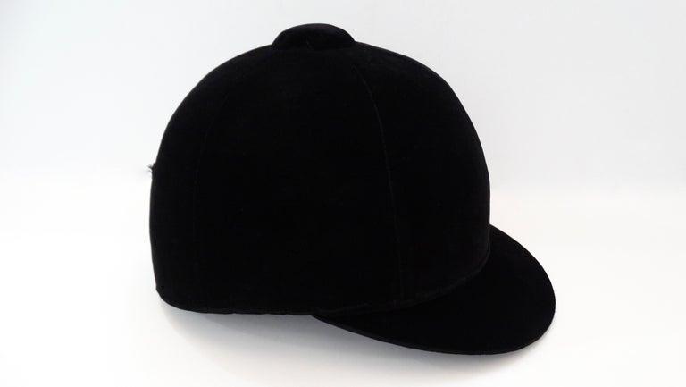 Rare Hermés 1950s Velvet Riding Helmet & Spurs  For Sale 6