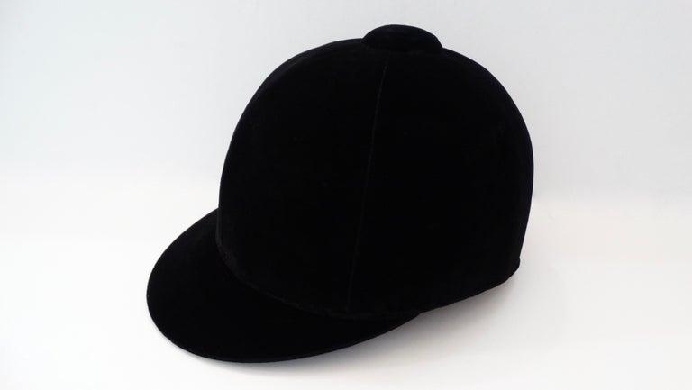 Rare Hermés 1950s Velvet Riding Helmet & Spurs  For Sale 8