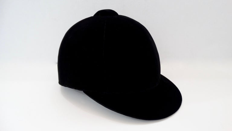 Rare Hermés 1950s Velvet Riding Helmet & Spurs  For Sale 2