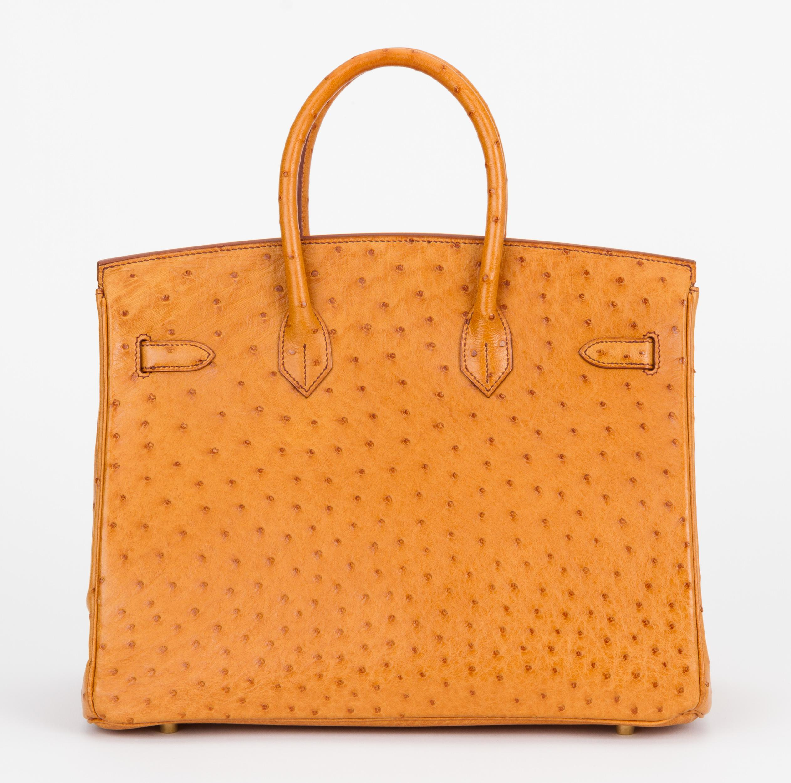 0c034b8d02e5 Rare Hermes Birkin 35 Ostrich Sable Gold Bag For Sale at 1stdibs