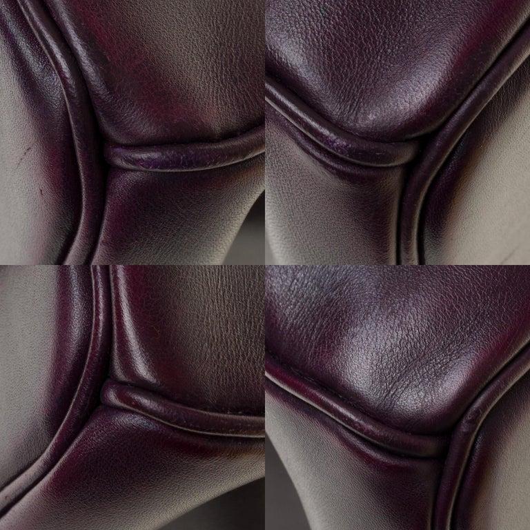 Rare Hermes Birkin 40 handbag in purple Box calfskin and brushed silver hardware 6