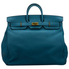 Rare Hermes Birkin Hac 50 Blue Cobalt Bag