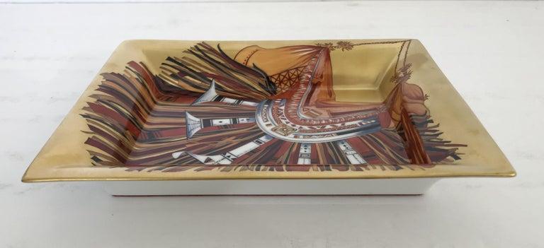 French Rare Hermes Porcelain Tray