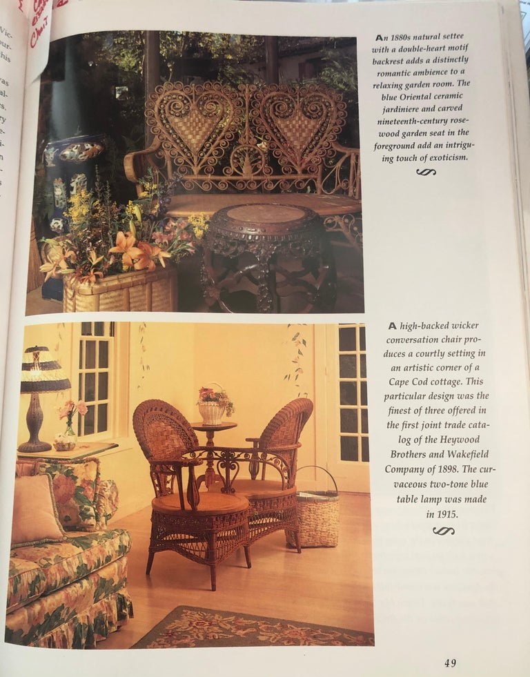 Rare Heywood Brothers and Wakefield Victorian Wicker Conversation Gossip Chair For Sale 6