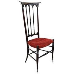Rare High Back Wood Chiavari Chair
