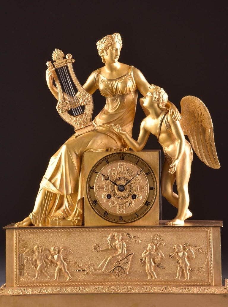 Rare and high quality prestigious pendule, with theme: