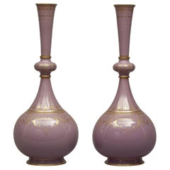 Historically Important Sèvres Porcelain Vases by Carrier-Belleuse. French c 1874