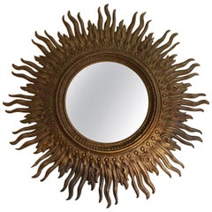 Rare Huge Sunburst Mirror