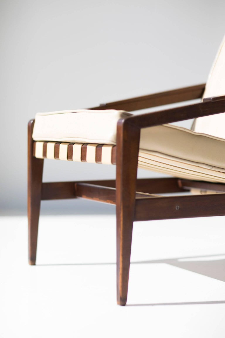 Mid-Century Modern Rare Ib Kofod Larsen Lounge Chair for Selig Imports For Sale