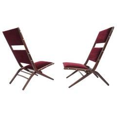 Rare Iconic Augusto Romano Pliable Lounge Chairs Mod. Congo, 1950 Italy