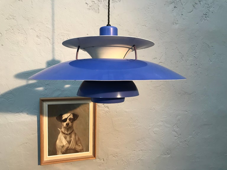 Mid-Century Modern Rare Iconic Vintage 1959 Poul Henningsen PH 5 Chandelier Pendant Lamp For Sale