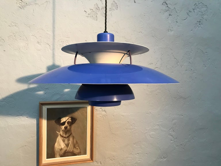 Danish Rare Iconic Vintage 1959 Poul Henningsen PH 5 Chandelier Pendant Lamp For Sale