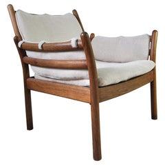 Rare Illum Wikkelsø Lounge Chair Model Genius in Oak by CFC Silkeborg in Denmark