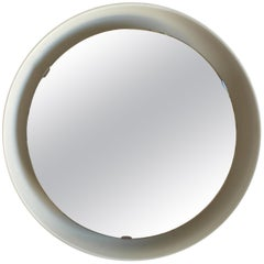 Rare Illuminated Metal Mirror by Arne Jacobsen for Louis Poulsen