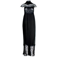 Rare & Important Collectable Chanel CC Logo Evening Dress Gown  Detachable Scarf