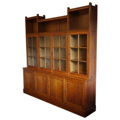 Rare & Important Dutch Arts & Crafts Oak Bookcase By Architect H.P. Berlage