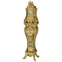 Rare Important French Louis XIV Style Gilt-Bronze Mounted Boulle Marquetry Clock
