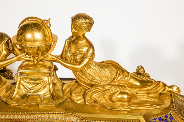 Rare Important French Ormolu Sevres Style Porcelain Jewelry Box on Bronze Table For Sale 10