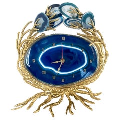 Rare in the Style of Jacques Duval-Brasseur Sculpture and Clock, 1970s, Italy