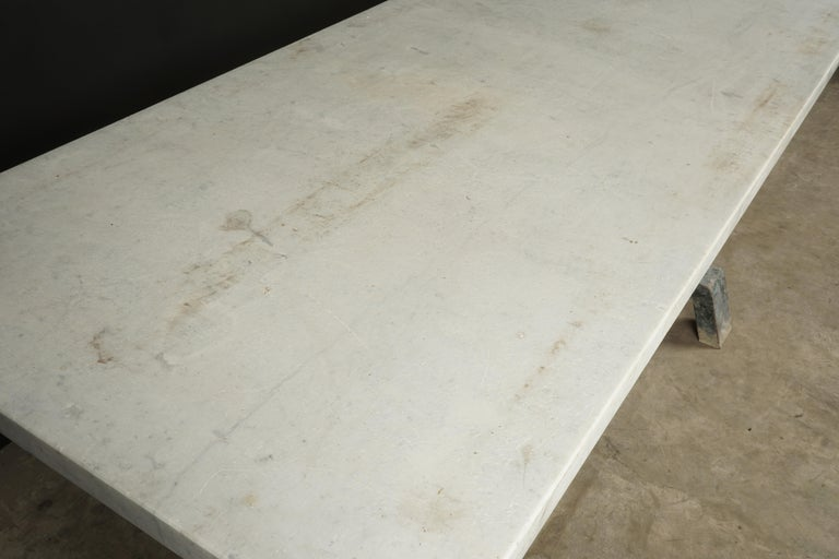 European Rare Industrial Dining Table From France, 1940s For Sale