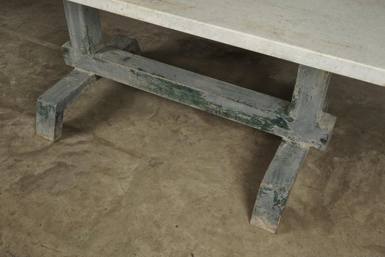 Rare Industrial Dining Table From France, 1940s For Sale 1