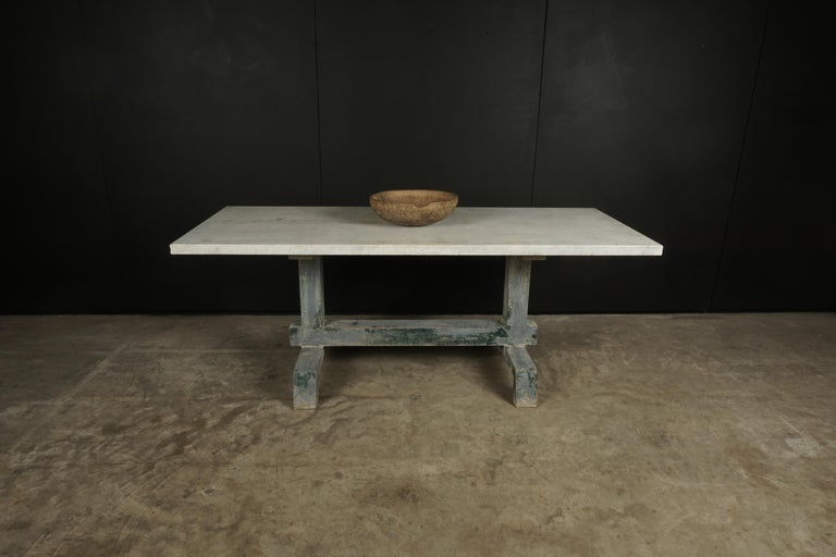 Rare Industrial Dining Table From France, 1940s For Sale 2