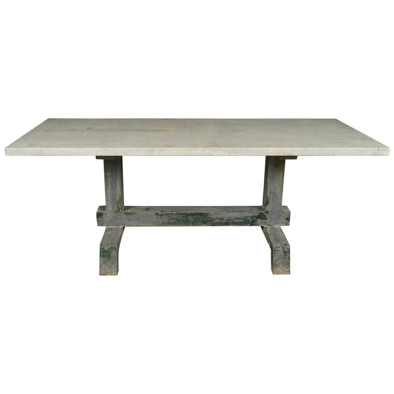 Rare Industrial Dining Table From France, 1940s For Sale