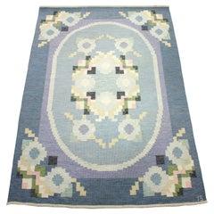 Rare Ingegerd Silow, Flat Weave Röllakan Carpet, 1950s