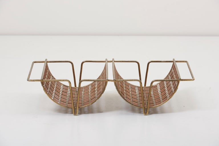 Rare Interlace Collection Pair by Tony Paul for Woodlin-Hall in Brass and Walnut For Sale 4