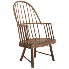 Rare Irish Famine Chair in a Primitive Windsor Style, Mid-19th Century