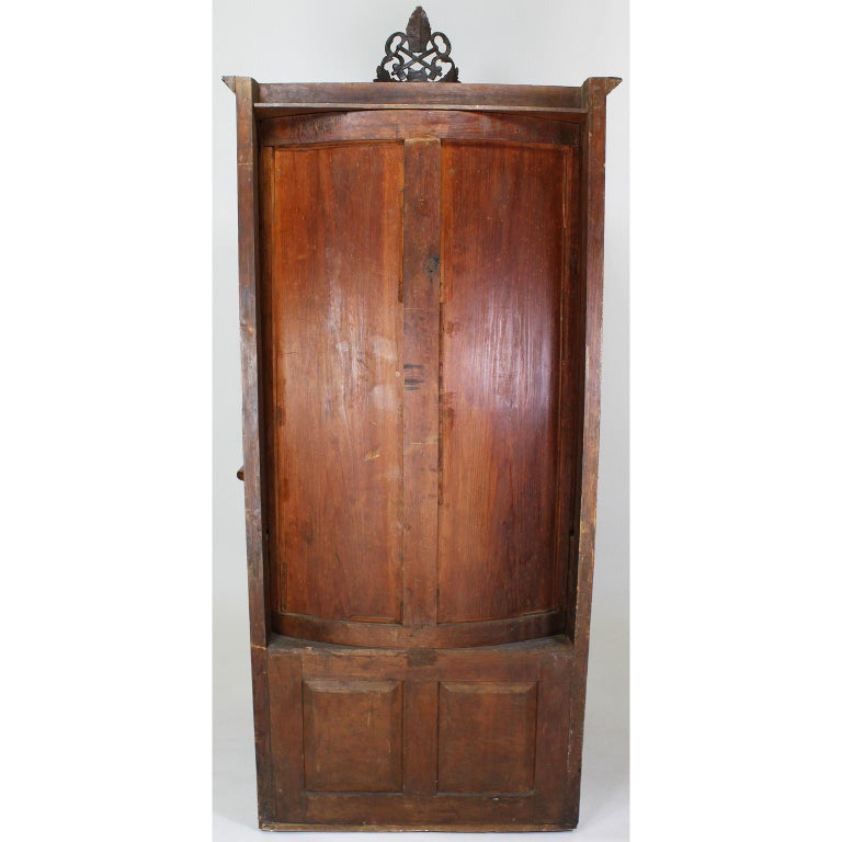 Rare Italian 19th Century Carved Pine Catholic Church Confessional Stall, Booth For Sale 8
