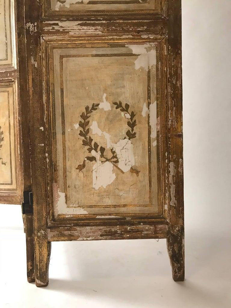 20th Century Rare Italian Gilt Florentine Folding Screen or Room Divider For Sale