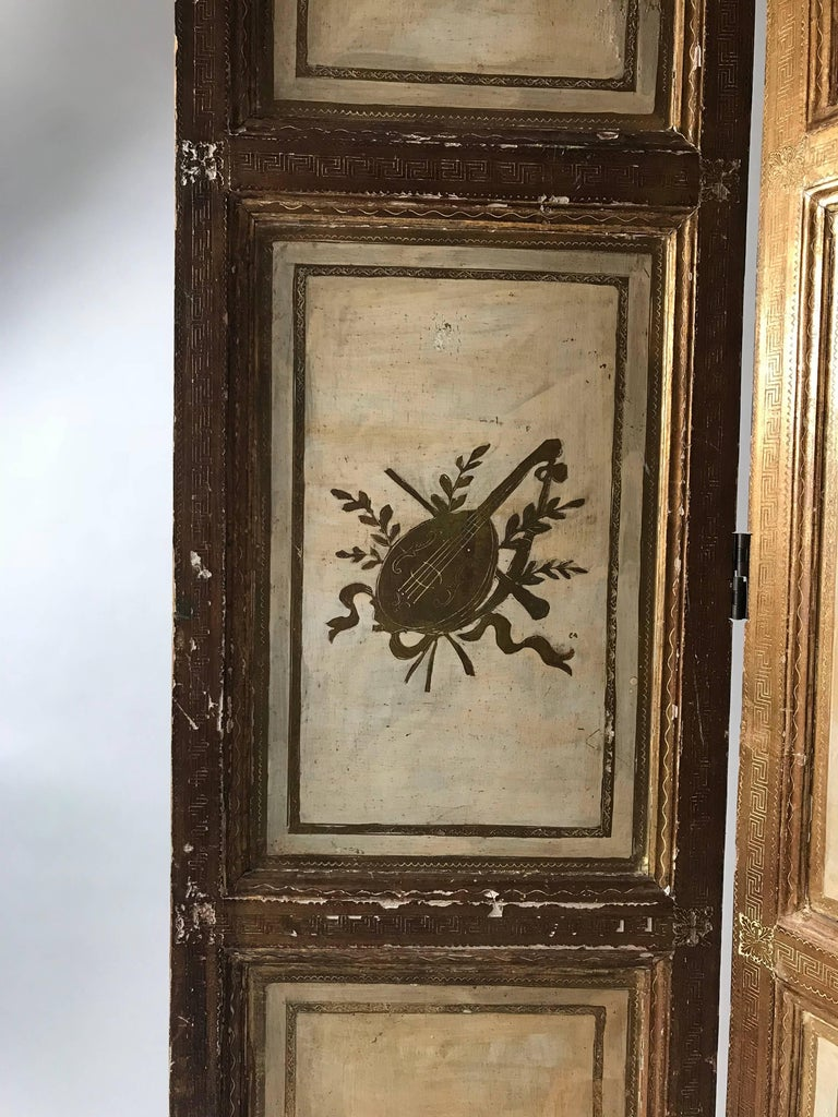 Rare Italian Gilt Florentine Folding Screen or Room Divider For Sale 1