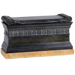 Grand Tour Marble Model of Scipio's Tomb, circa 1820