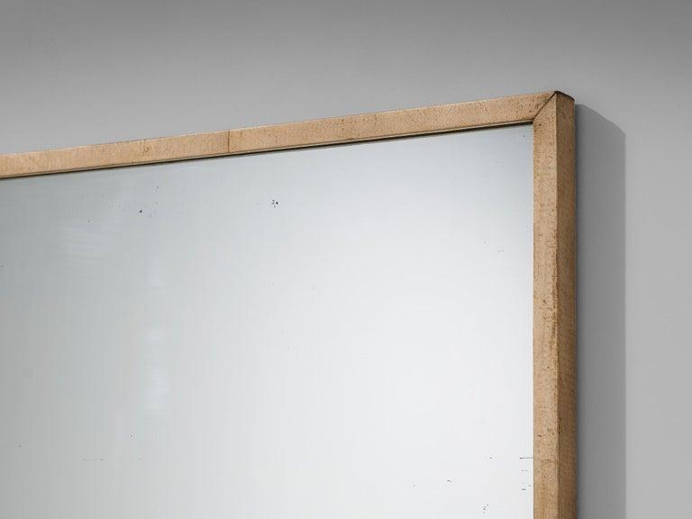 Rare Italian Mirror by Valzania in Parchment For Sale 2