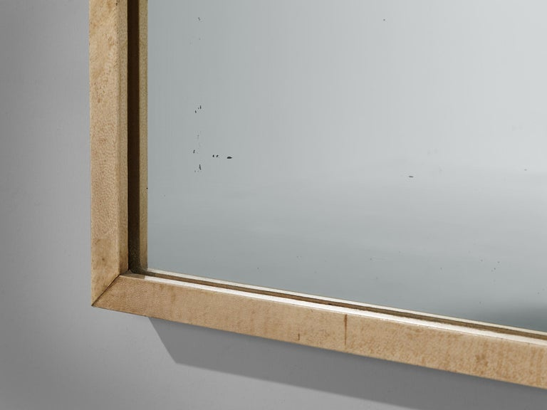 Rare Italian Mirror by Valzania in Parchment For Sale 3